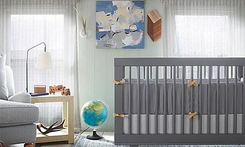 gri renk bebek odasi