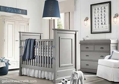 gri laci bebek odası dekorasyonu