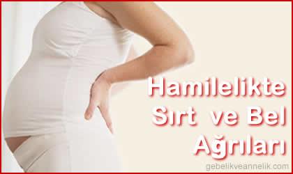 hamilelikte bel ve sırt ağrıları