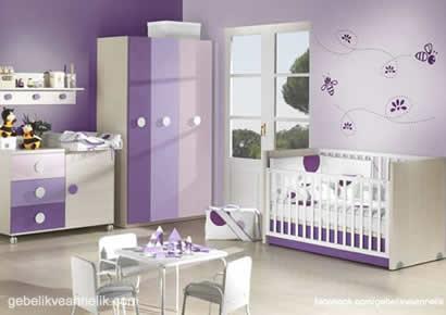 mor lila bebek odası dekorasyonu