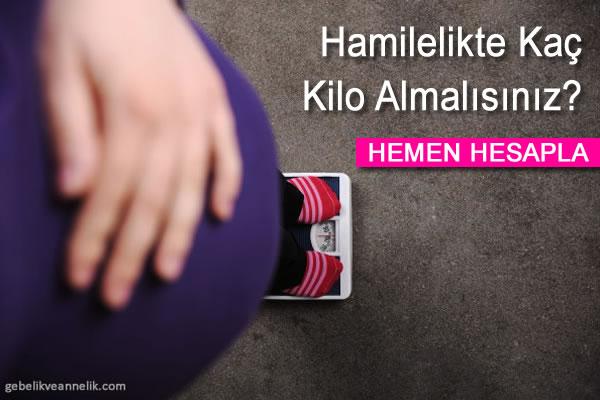 hamilelikte kilo alimi hesaplama