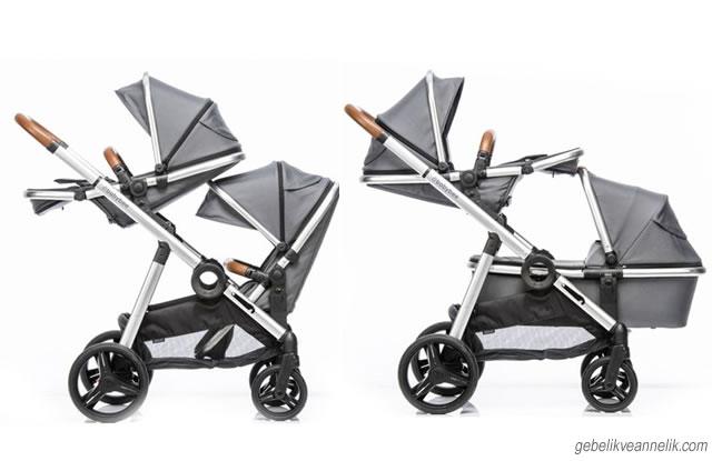 Babybee Duo İkiz Bebek Arabası