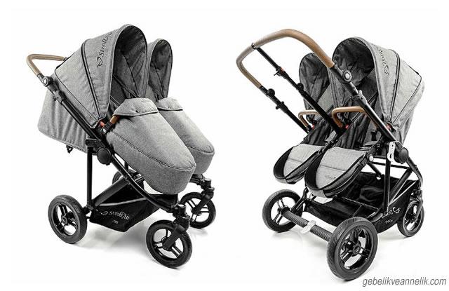 Twinway Stroller İkiz Bebek Arabası