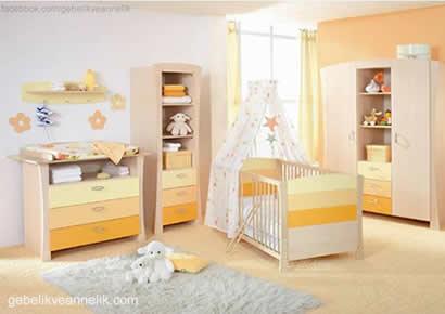 sarı bebek odası dekorasyonu