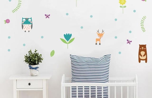Bebek ve Çocuk Odası İçin Sticker Fikirleri