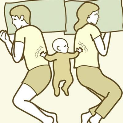 Anne Baba ve Bebeğin Uyku Pozisyonları