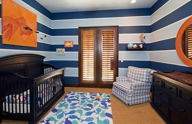 Lacivert (Navy) Renkli Bebek Odası