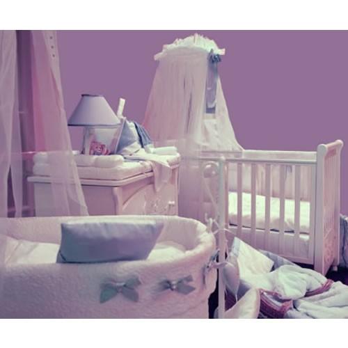 Lavanta Rengi (Lila) Bebek Odası Dekorasyonu