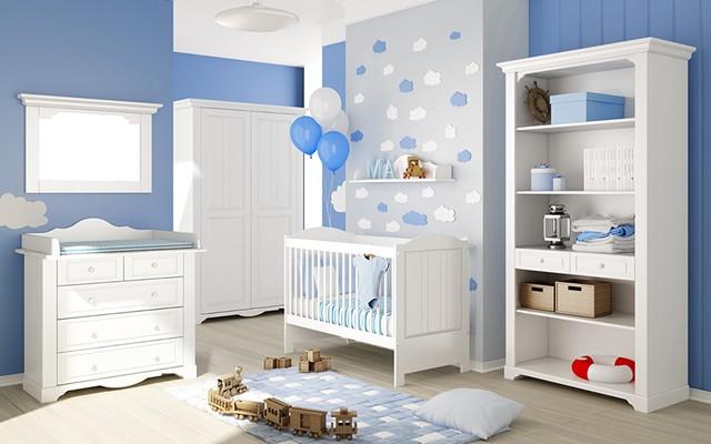 Mavi Renkli Bebek Odası Dekorasyonu