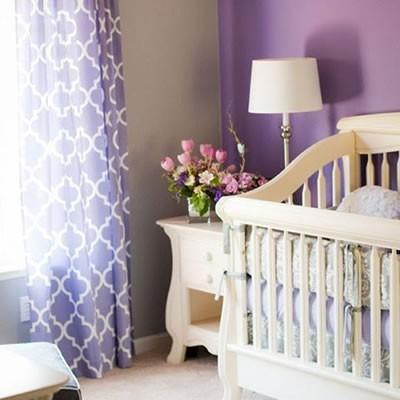 Mor Renk Bebek Odası Dekorasyonu