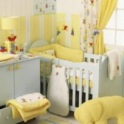 9 Sarı Bebek Mobilyası Dekorasyonu