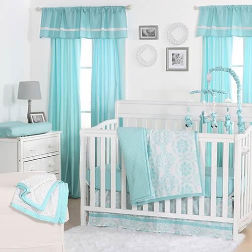 Turkuaz Renkli Bebek Odası