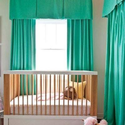 Yeşil Renkli Bebek Odası Dekorasyonu