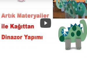 Artık Materyaller İle Dinazor Yapımı (Videolu Anlatım)