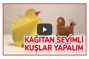 Kağıttan Kolay Kuş Yapımı (Videolu Anlatım)