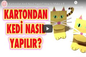 Kartondan Kedi Nasıl Yapılır (Videolu Anlatım)